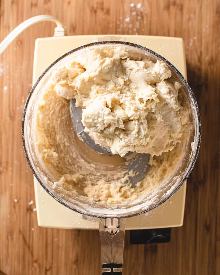 finished dough in food processor